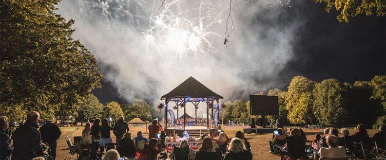 Fireworks over the bandstand