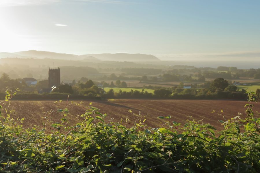 View across Old Cleeve and fields
